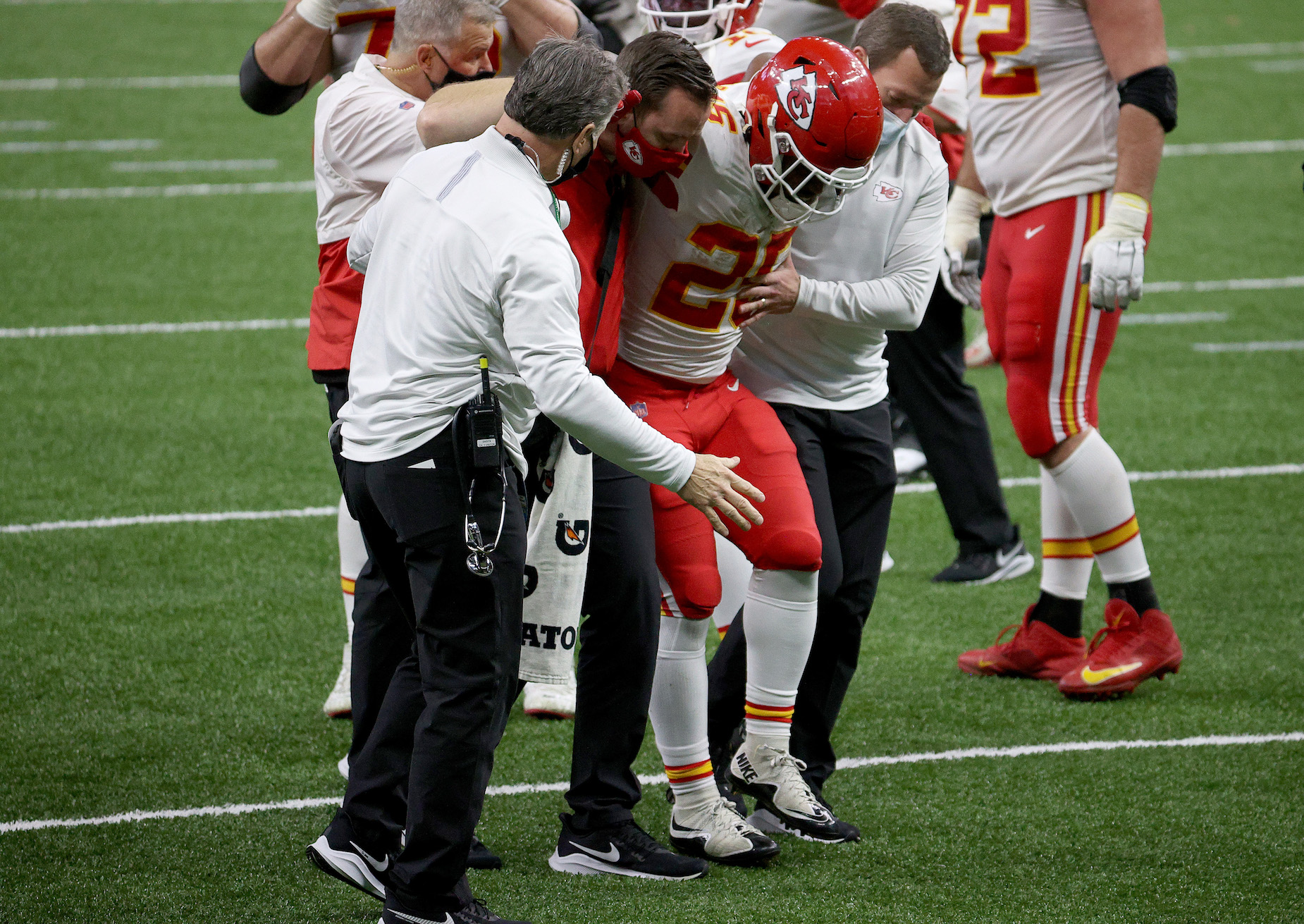 Why isn't Clyde Edwards-Helaire playing for the Kansas City Chiefs?