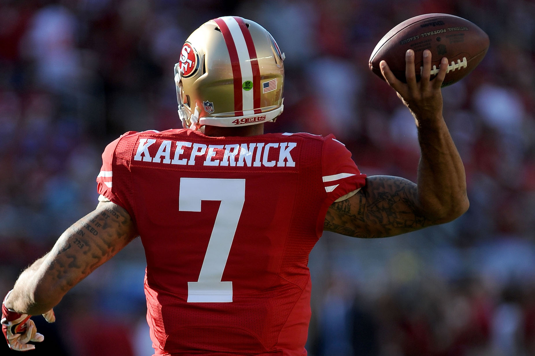 While Colin Kaepernick doesn't have an NFL job, he's sill setting NFL records.