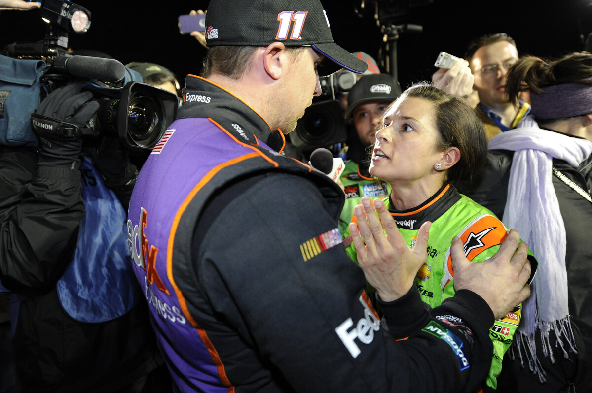 NASCAR drivers Danica Patrick and Denny Hamlin famously had a verbal altercation during the week of the 2015 Daytona 500. What happened between the two?