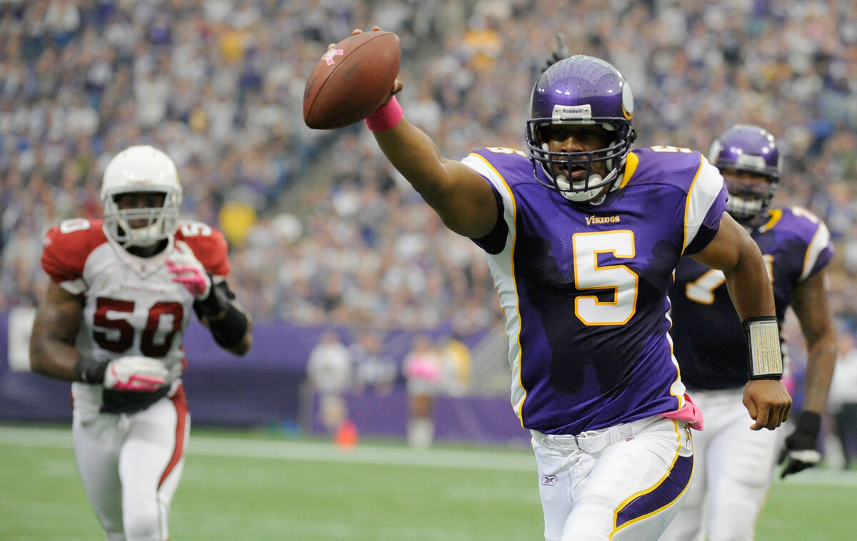 Veteran quarterback Donovan McNabb did everything he could to wear No. 5 with the Minnesota Vikings in 2011. Somehow, an ice cream cone was involved.