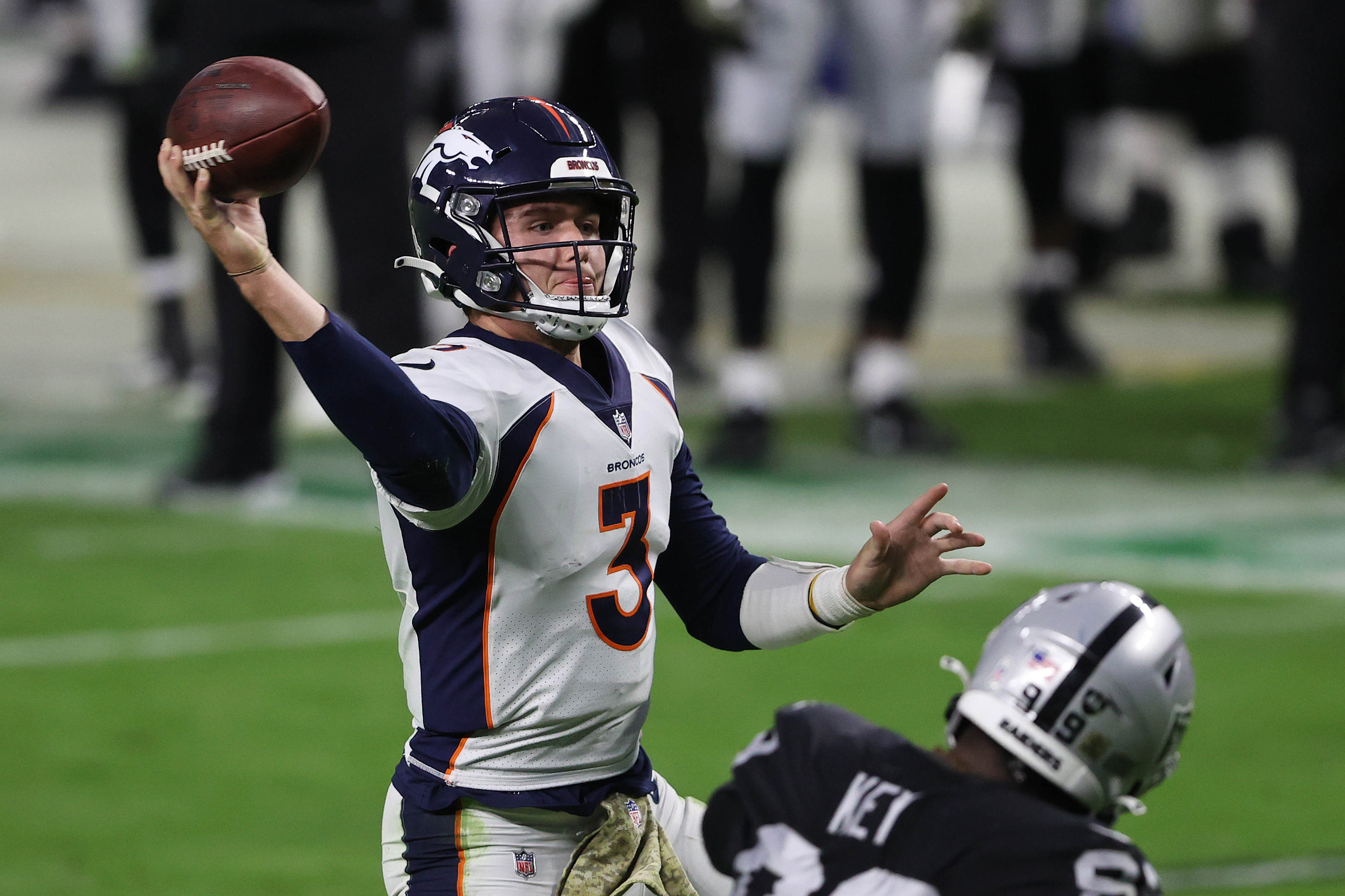 Drew Lock reacts to his mother's tweet regarding last week's COVID-19 situation with the Denver Broncos.