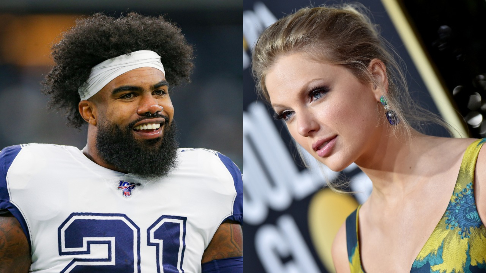 Ezekiel Elliott is a star in the NFL for the Dallas Cowboys. However, he failed miserably when shooting his shot with Taylor Swift.