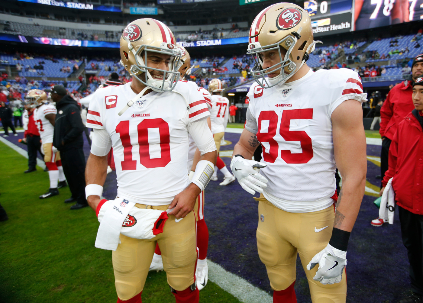 Jimmy Garoppolo has had a roller-coaster career with the San Francisco 49ers. George Kittle now has a stern message about his quarterback.