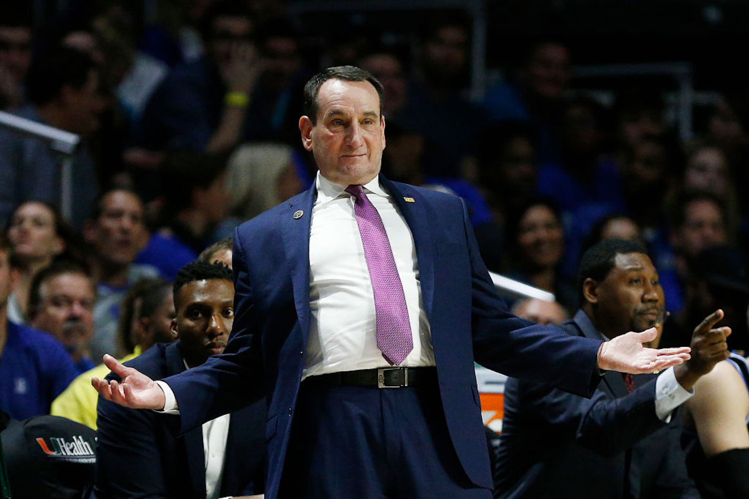 Mike Krzyzewski and the Duke Blue Devils haven't started so hot this year, and now Coach K is questioning if the season should continue.