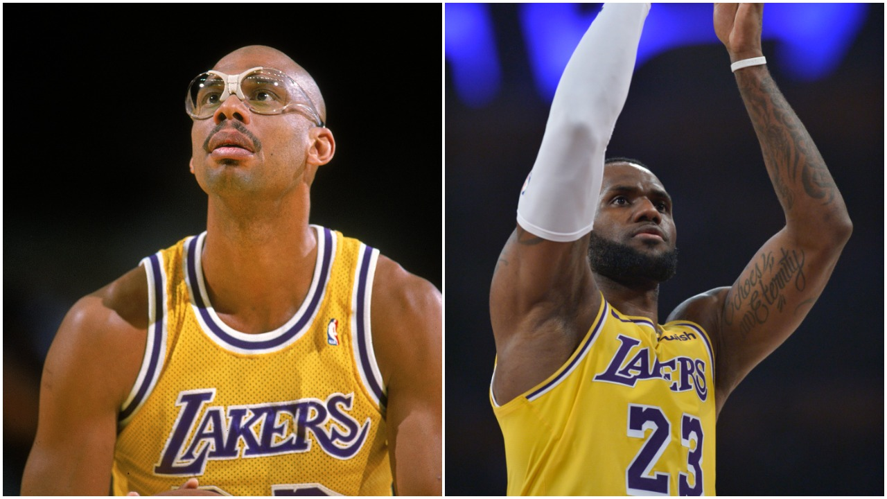 Kareem Abdul-Jabbar LeBron James NBA all-time scoring list