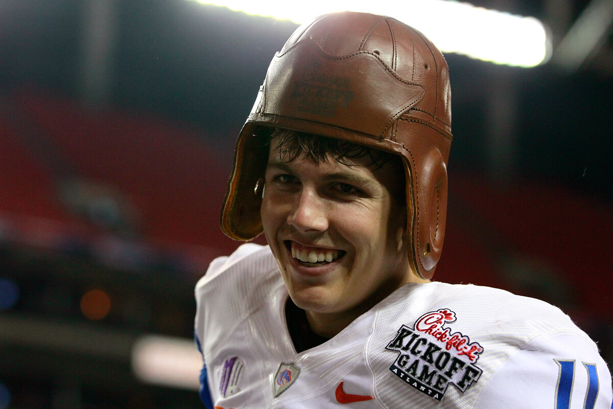 Dallas Cowboys offensive coordinator Kellen Moore famously starred as a Boise State quarterback. Moore became a legend despite clichéd height concerns.