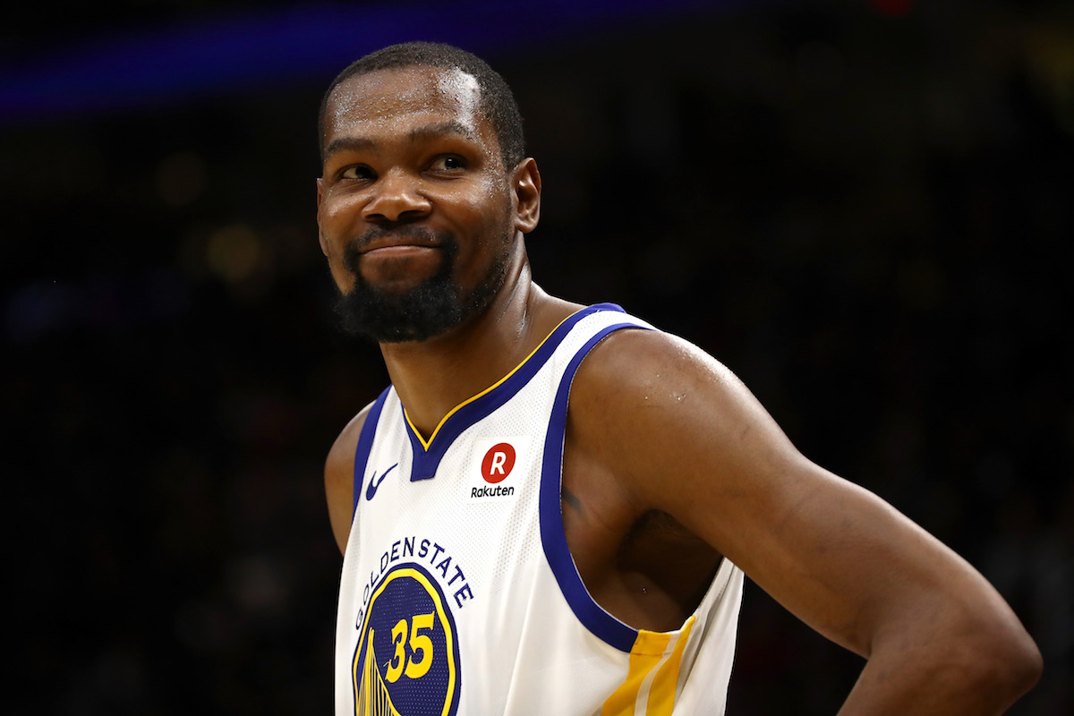 Kevin Durant with the Warriors
