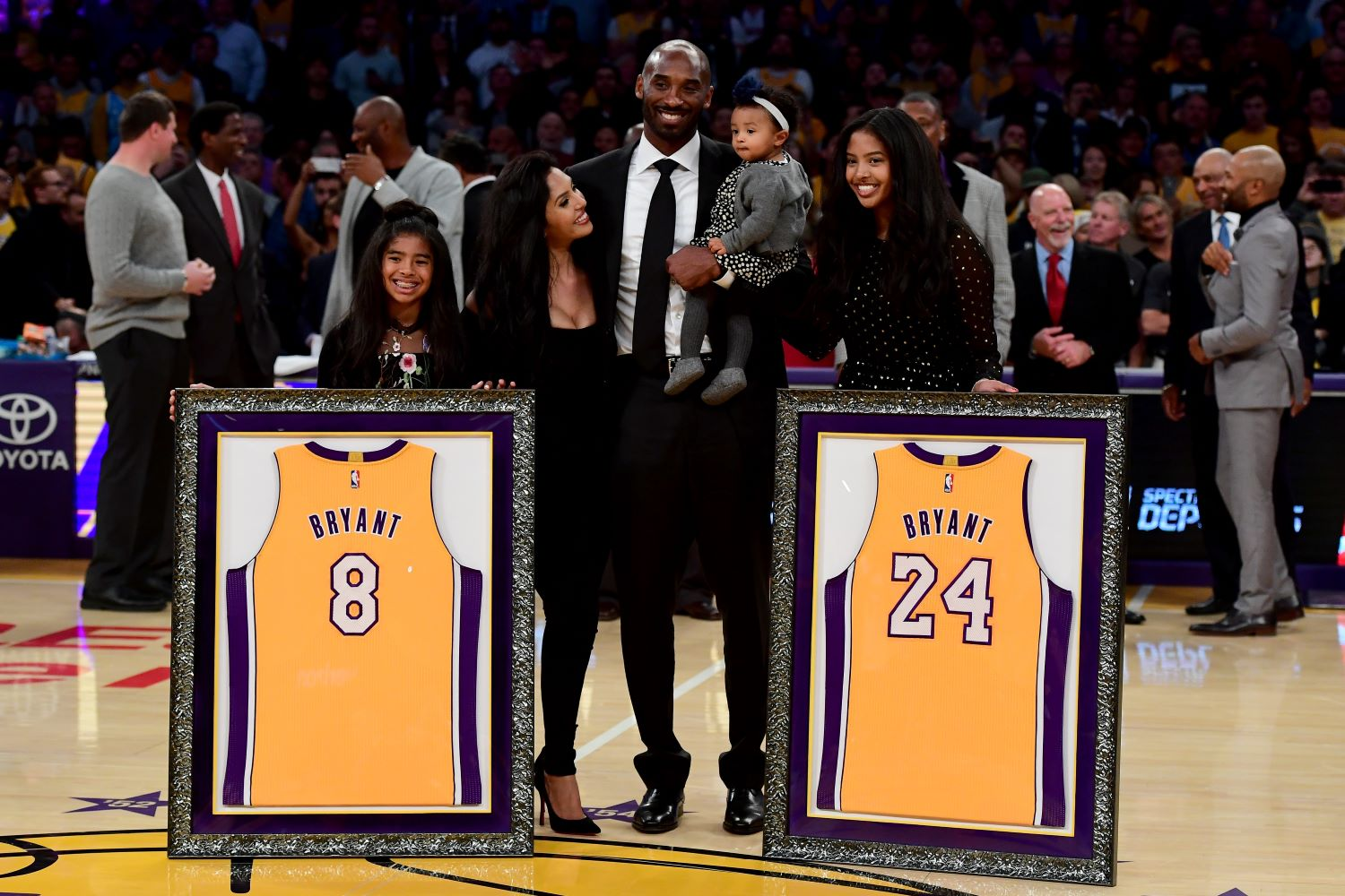 Vanessa Bryant paid homage to her late husband Kobe Bryant on Friday by posting a heartfelt message honoring the three-year anniversary of his jersey retirement.