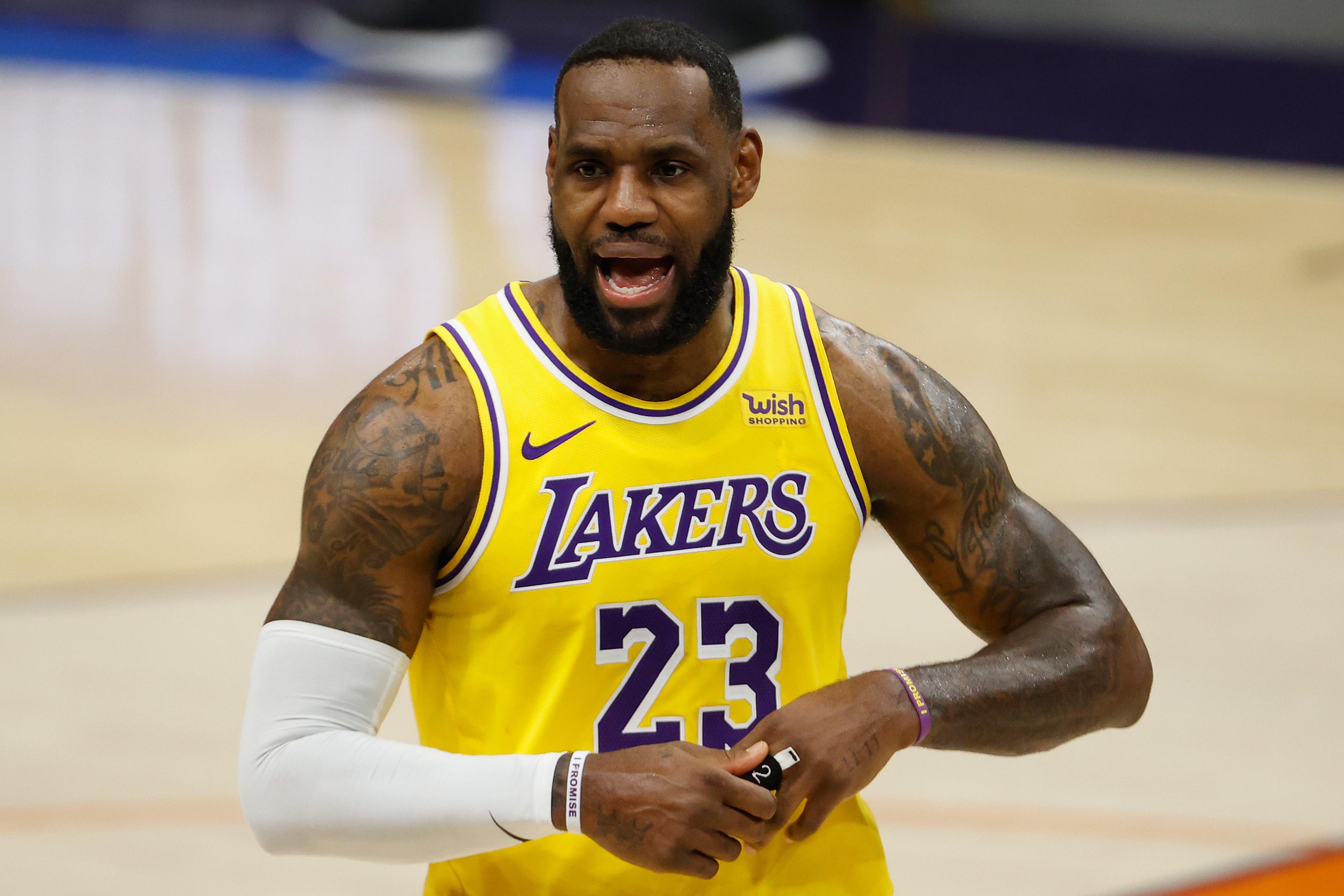NBA star LeBron James