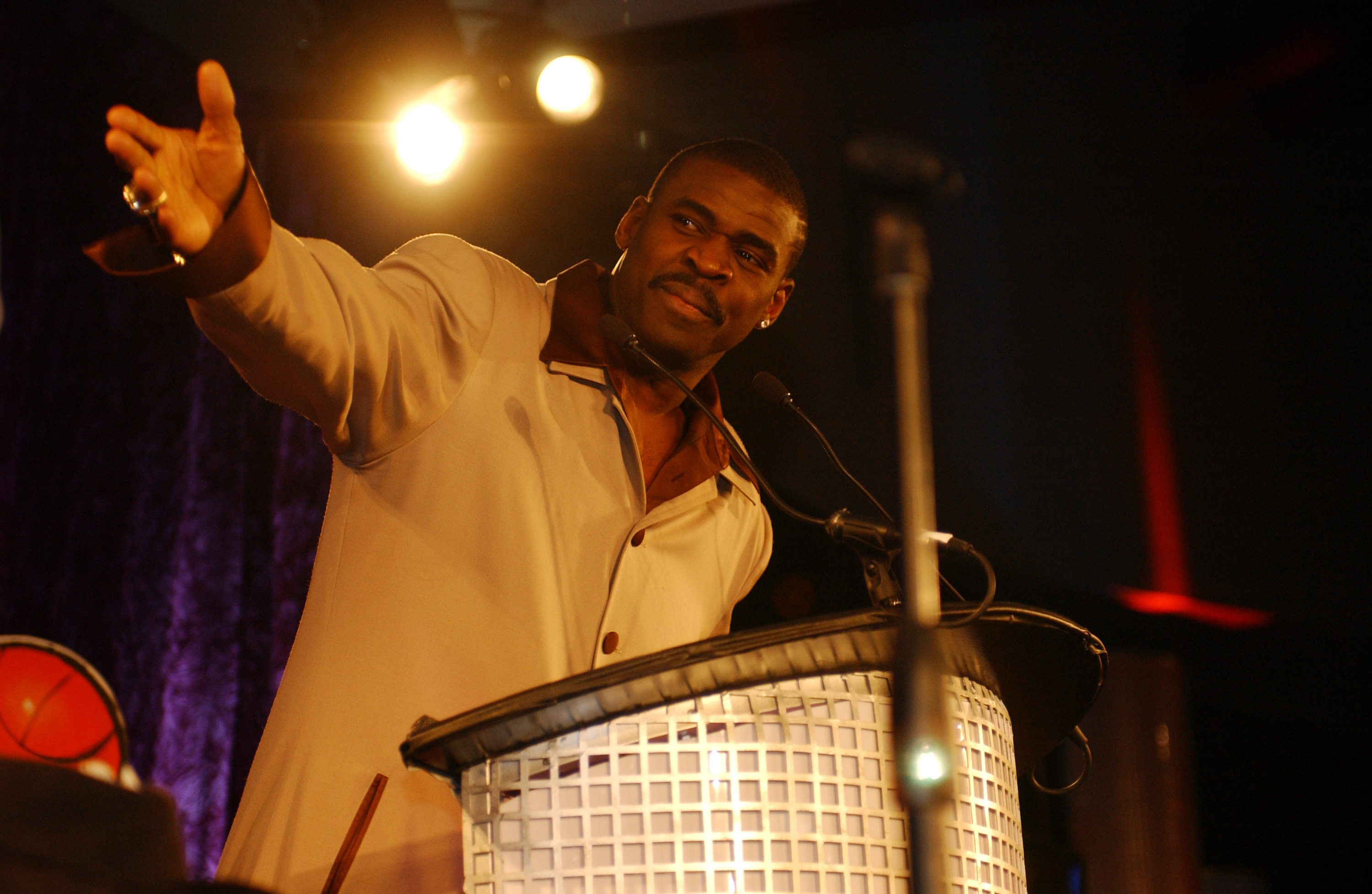 NFL player Michael Irvin in Las Vegas in 2002