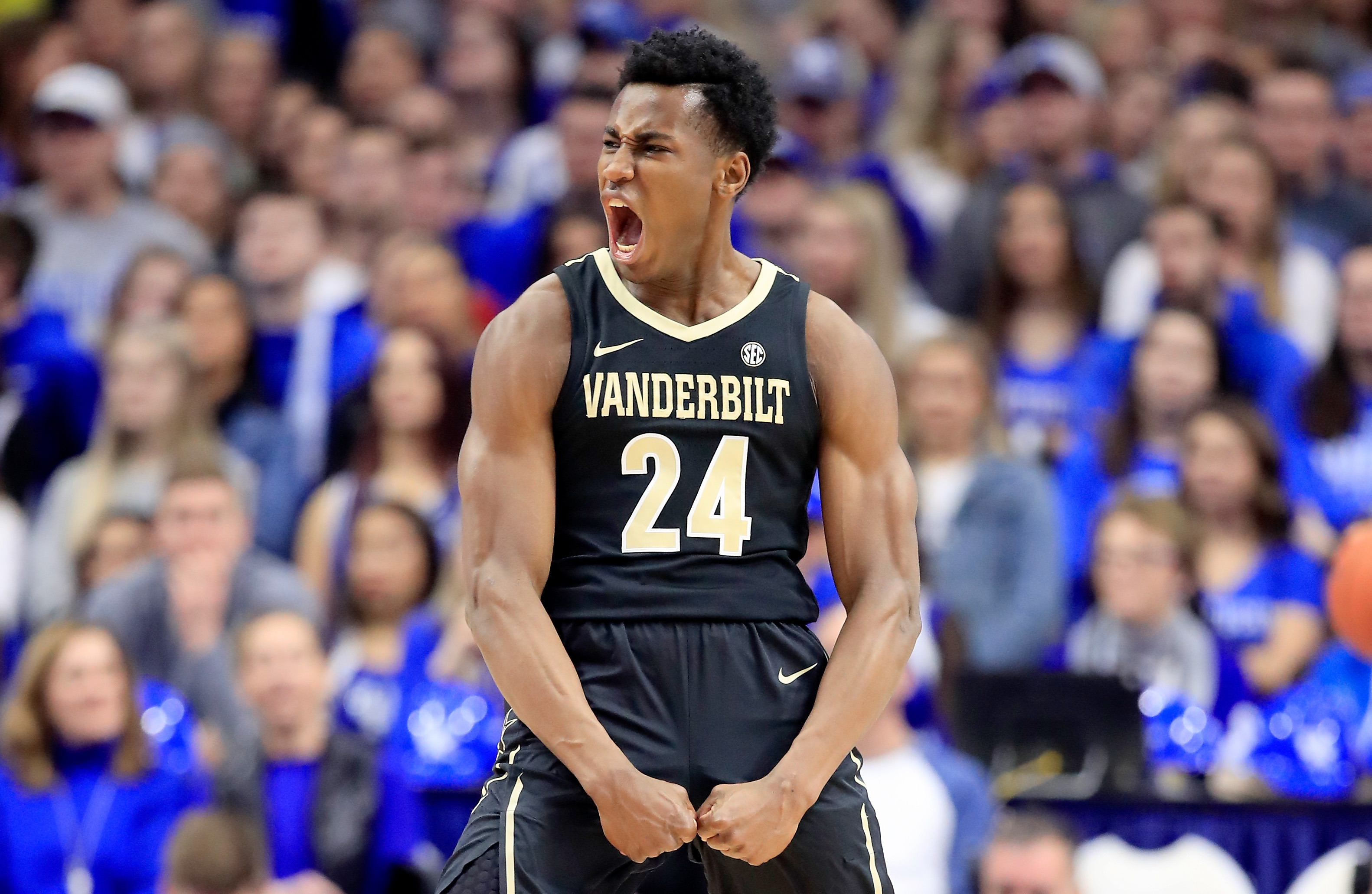 Aaron Nesmith of the Vanderbilt Commodores will play for the Boston Celtics in 2020
