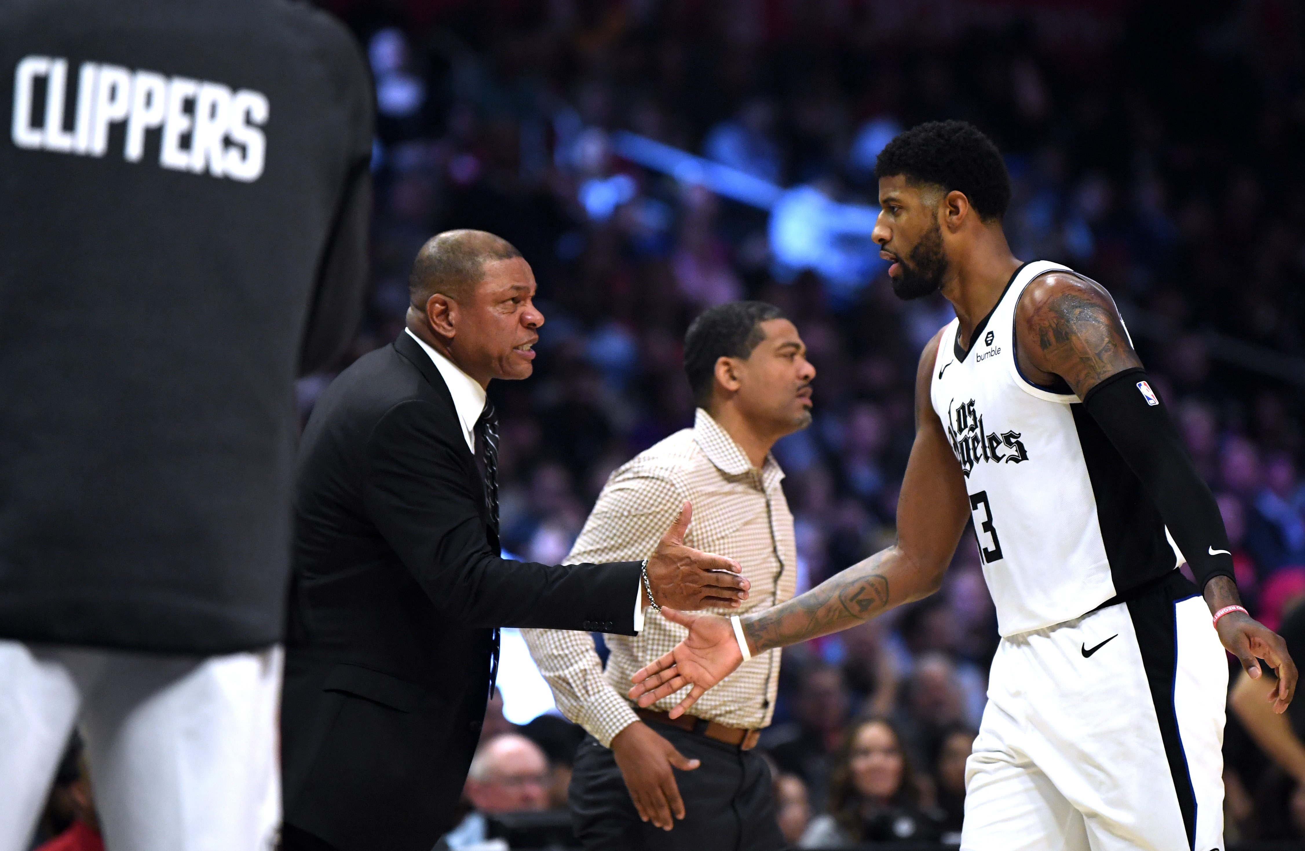 Clippers' Doc Rivers and Paul George