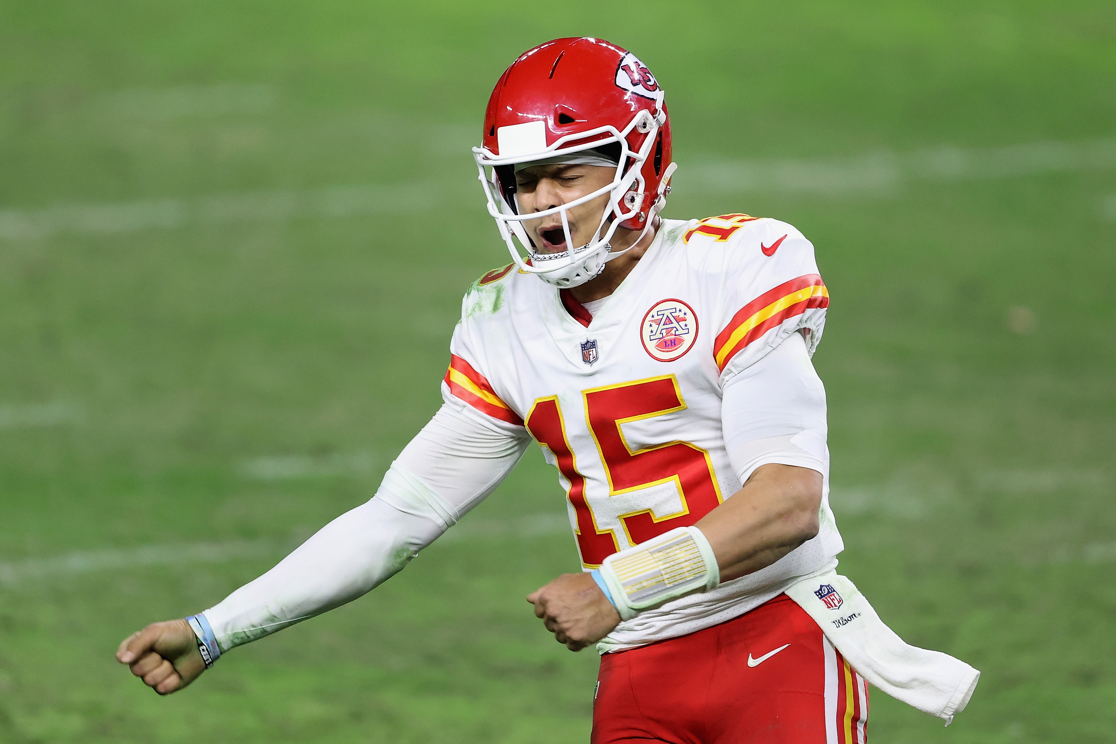Patrick Mahomes of the Kansas City Chiefs