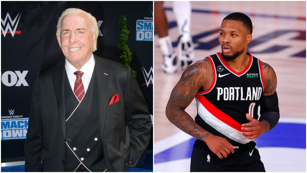 WOOOOO! How the Amazing Damian Lillard-Ric Flair Sneaker Collaboration With Adidas Came To Be