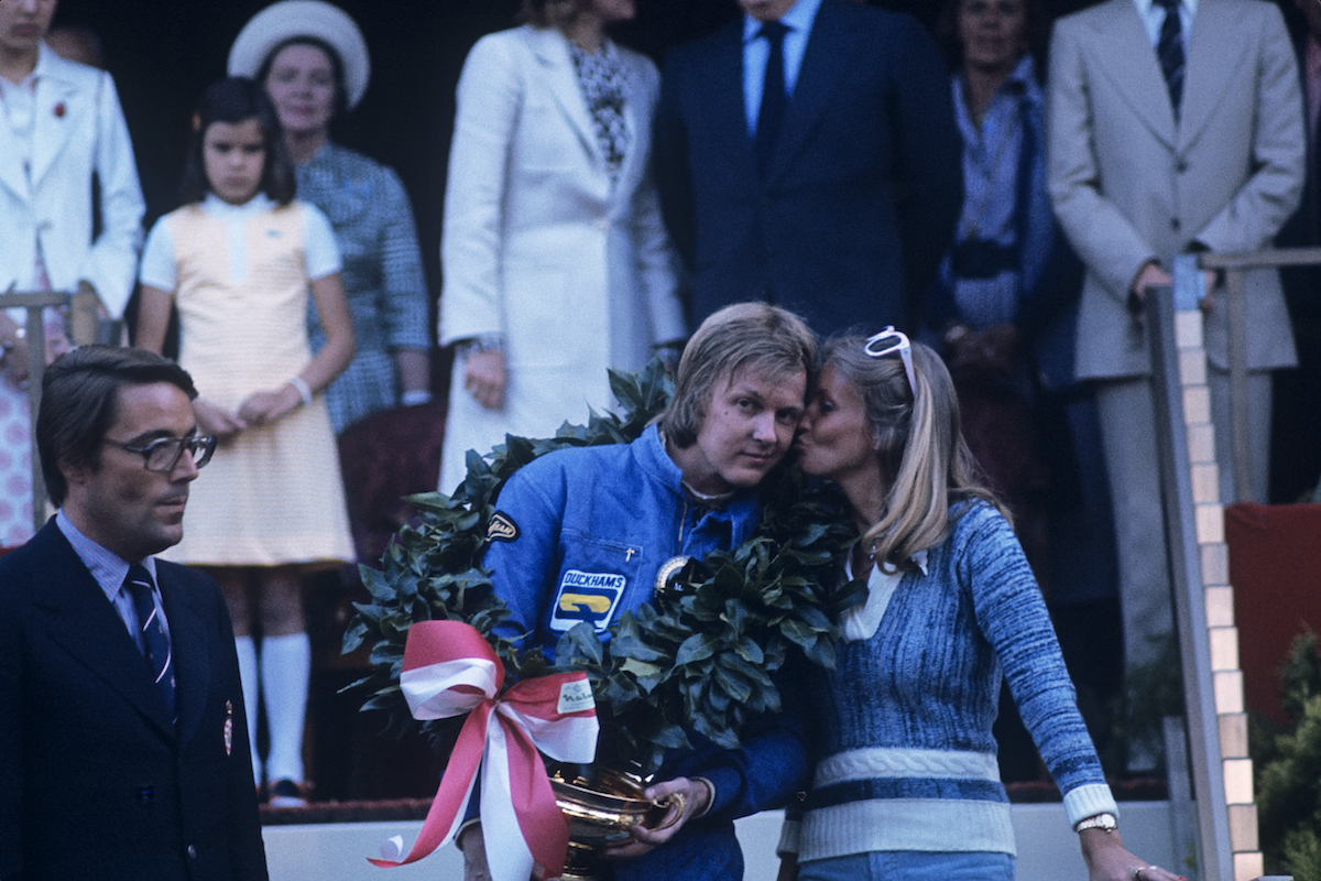 Wife Barbro Peterson with Ronnie Peterson
