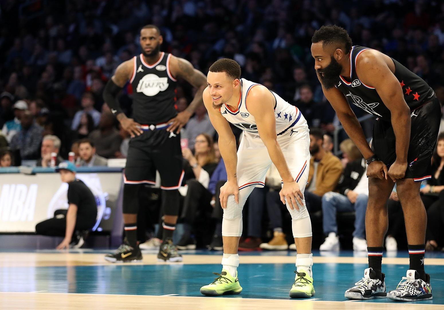Stephen Curry James Harden Warriors trade rumors