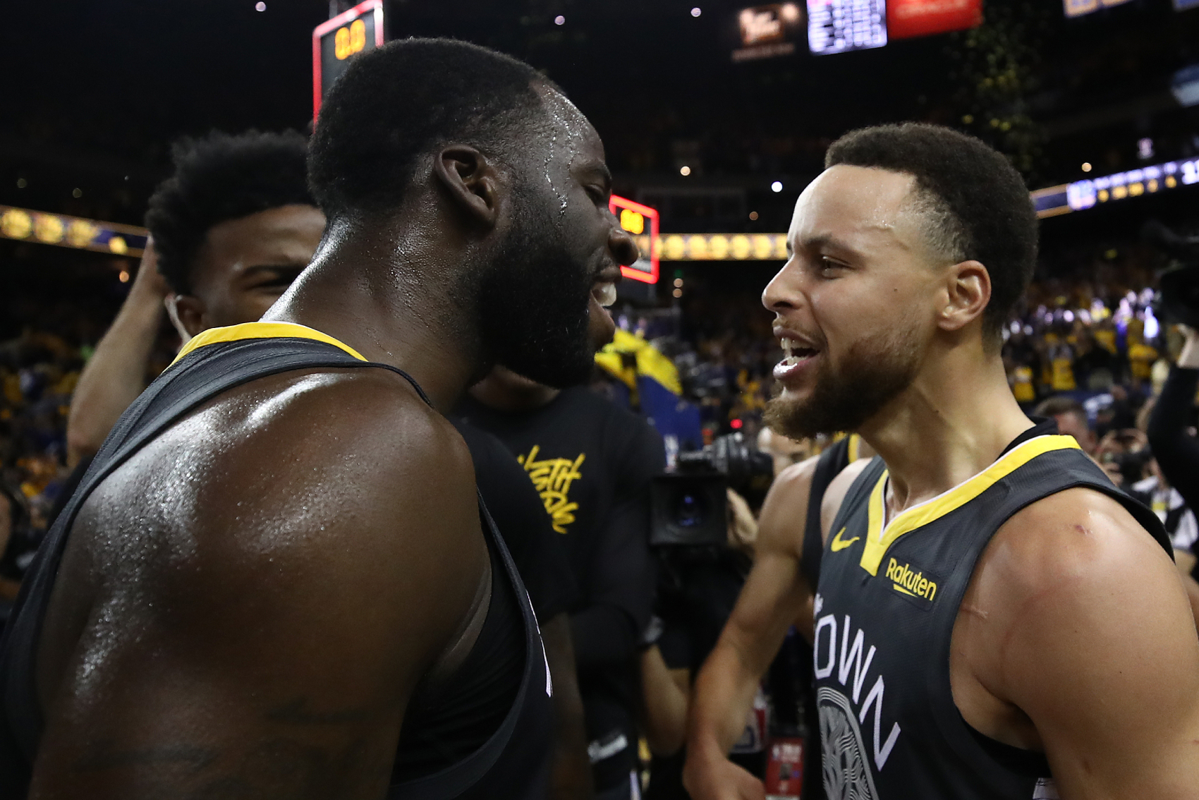 Like the Golden State Warriors as a team last season, Draymond Green had a down year. His teammate Stephen Curry has a strong message, though.
