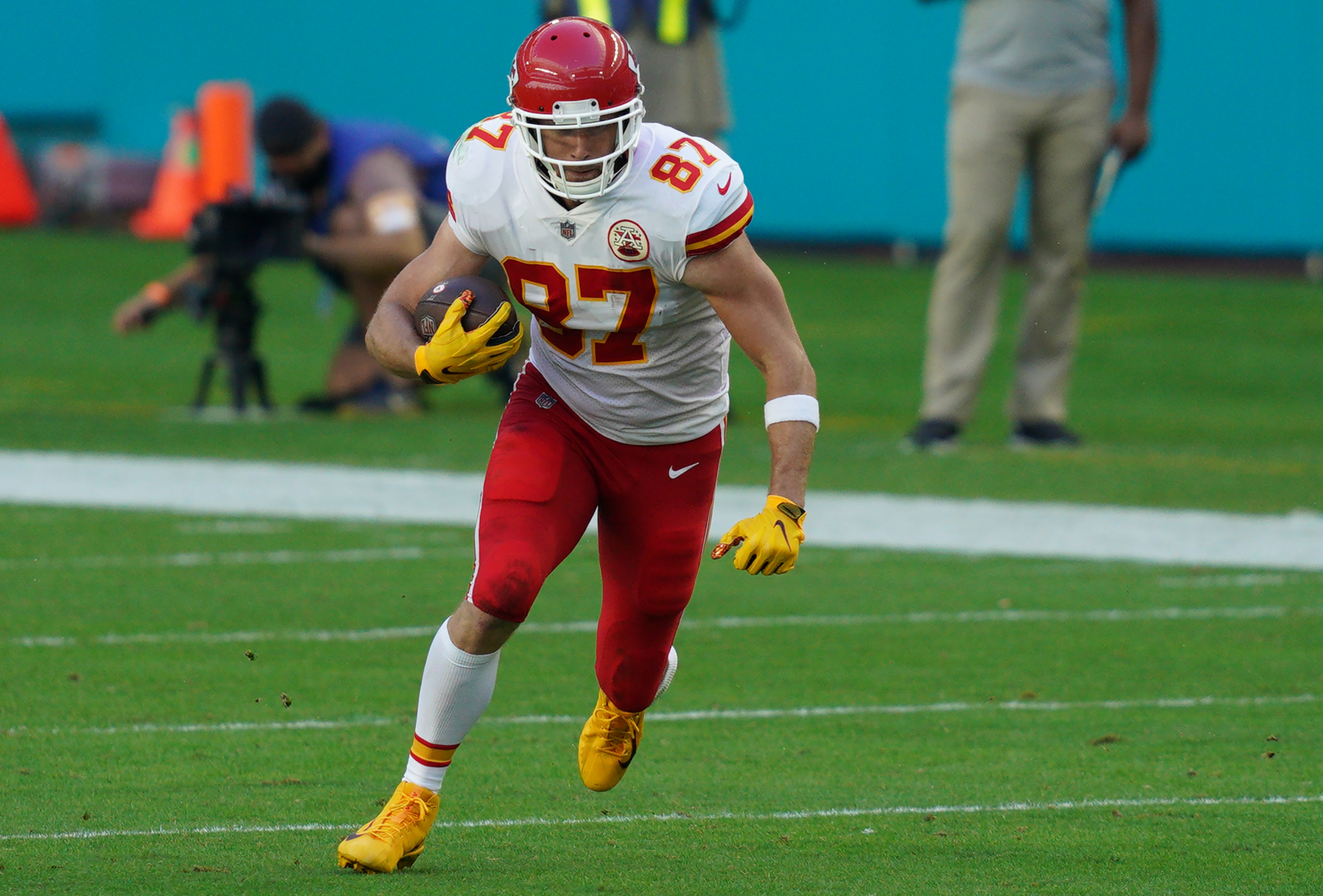 While Kansas City Chiefs tight end Travis Kelce has made millions in the pros, he used to earn $8 an hour.