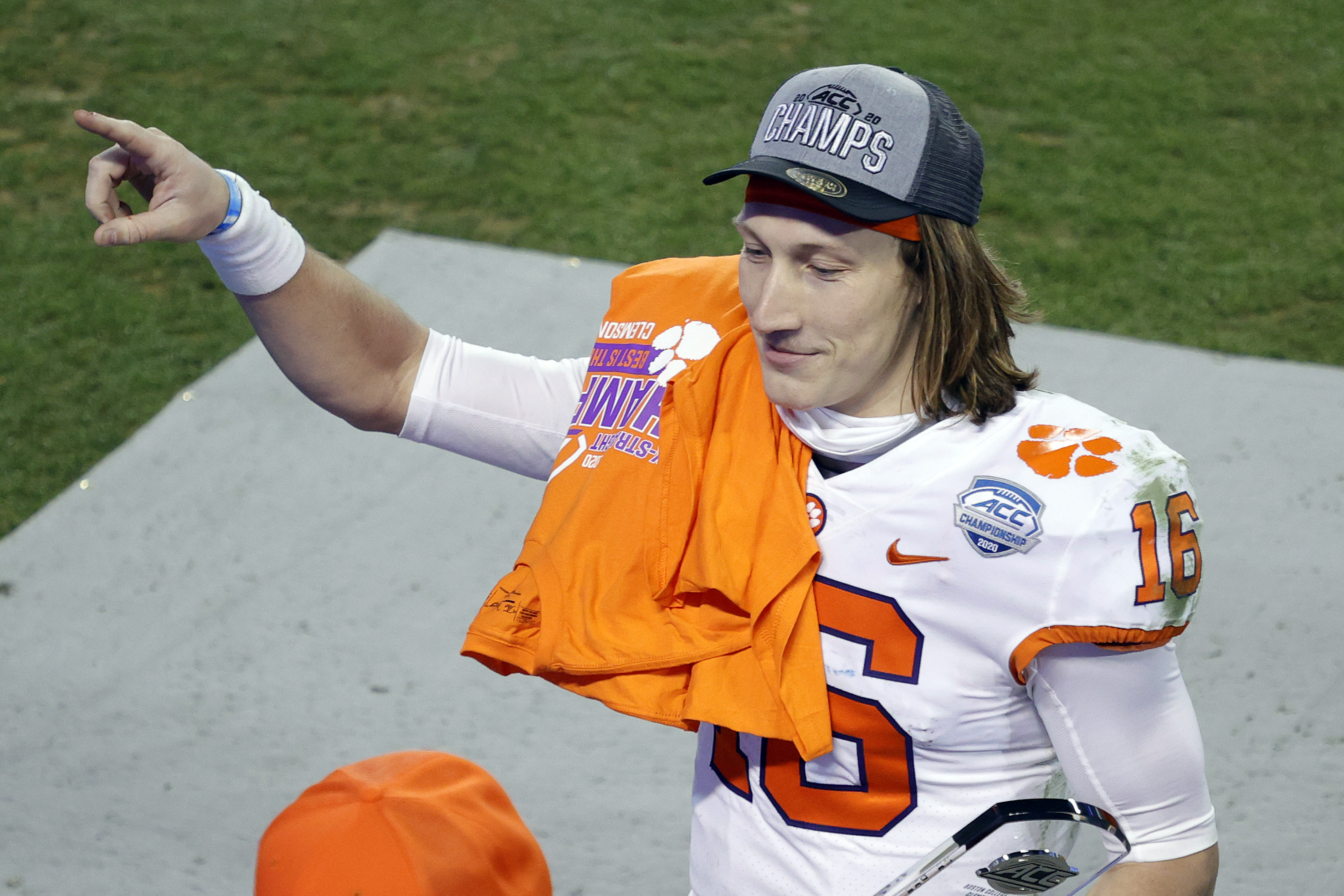 Trevor Lawrence is headed back to the college football playoffs.