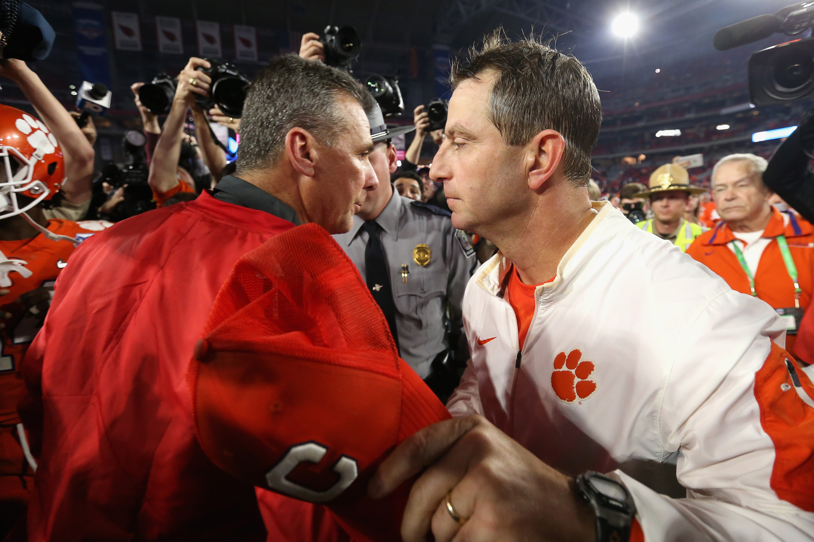 Dabo Swinney recently said he doesn't think Ohio State should make the College Football Playoff. Urban Meyer had something to say about that.