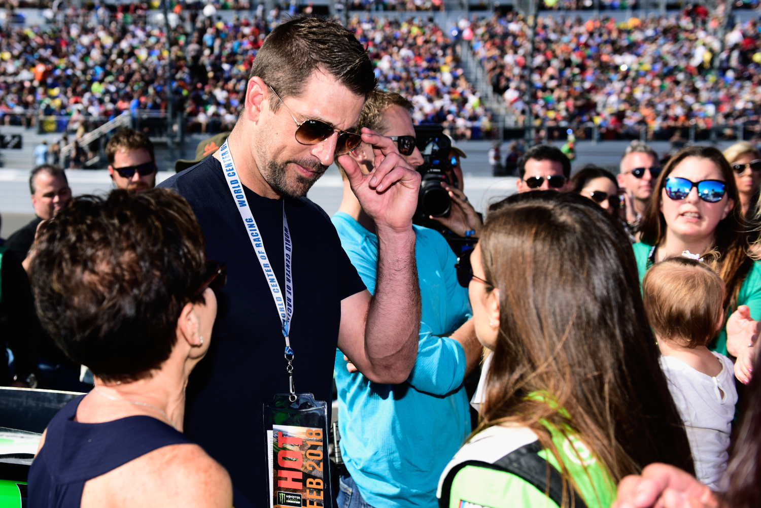Why did Aaron Rodgers intimidate Danica Patrick so much?