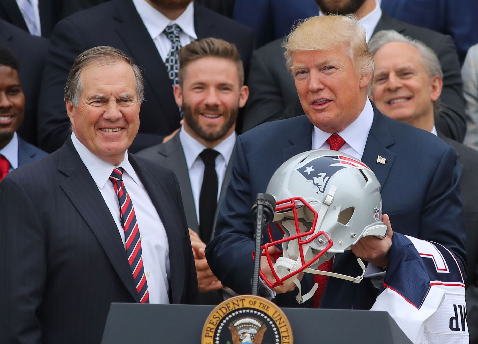Bill Belichick could find himself facing a PR nightmare, thanks to Donald Trump.