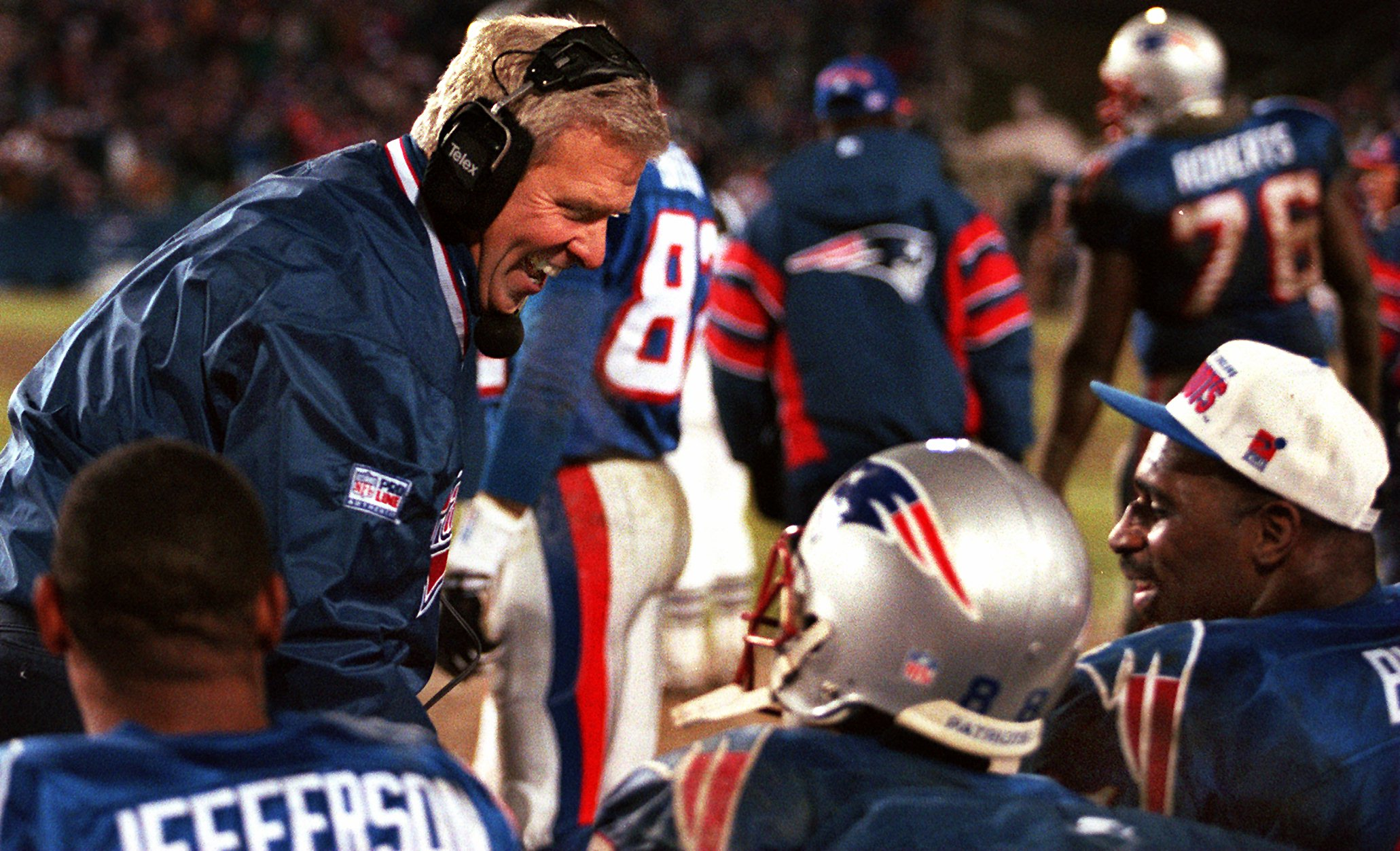 Patriots head coach Bill Parcells