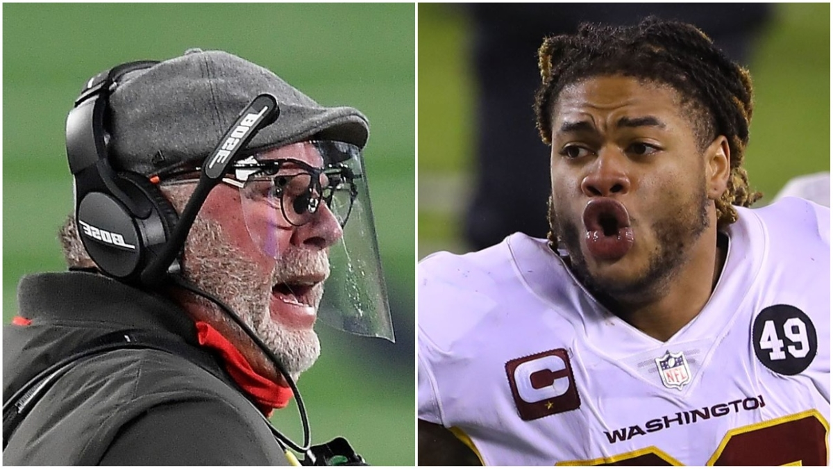 Buccaneers head coach Bruce Arians gave a warning to Chase Young about calling out Tom Brady.