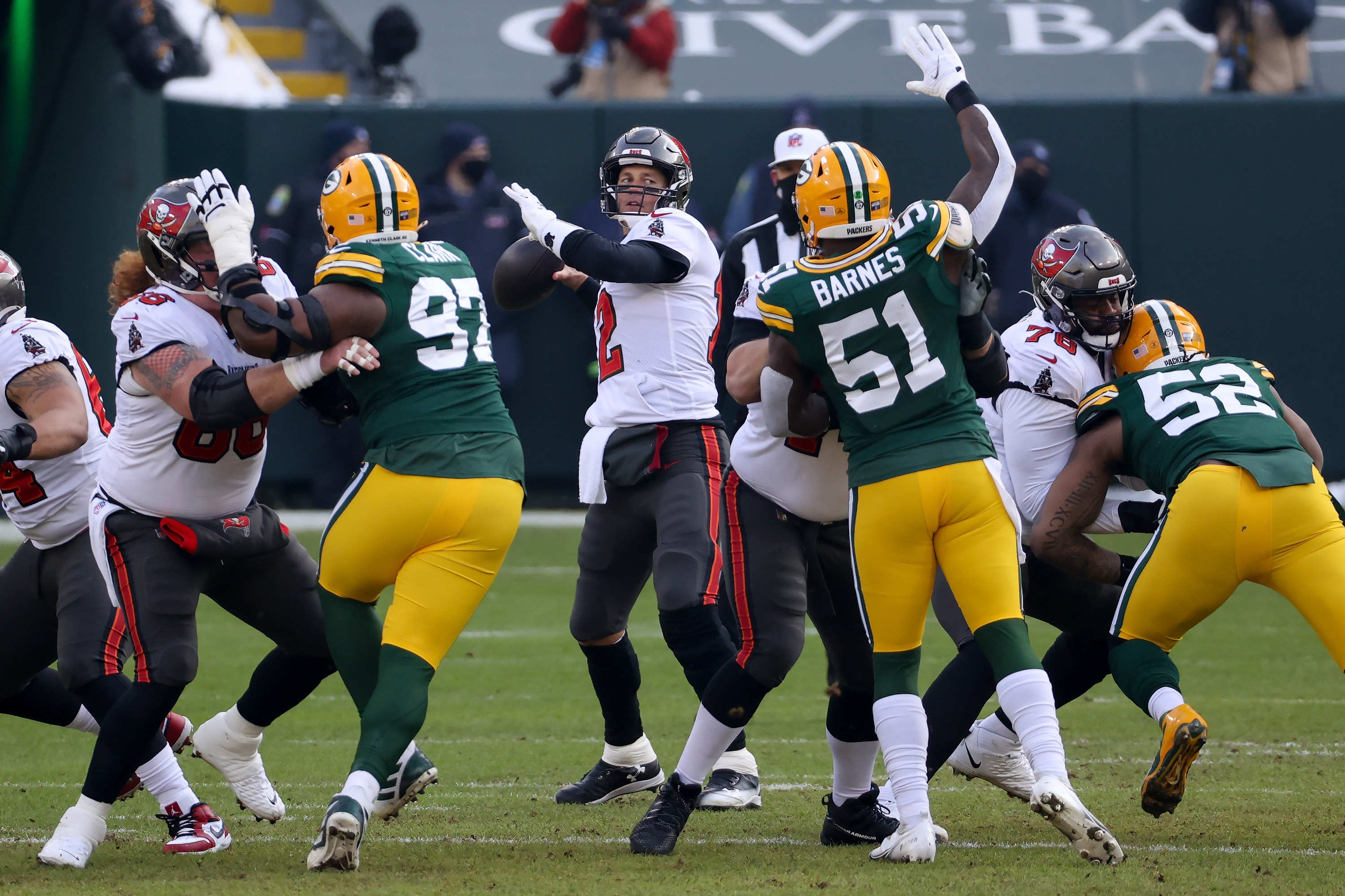 It wasn't just on the field where the Tampa Bay Buccaneers defeated the Green Bay Packers.