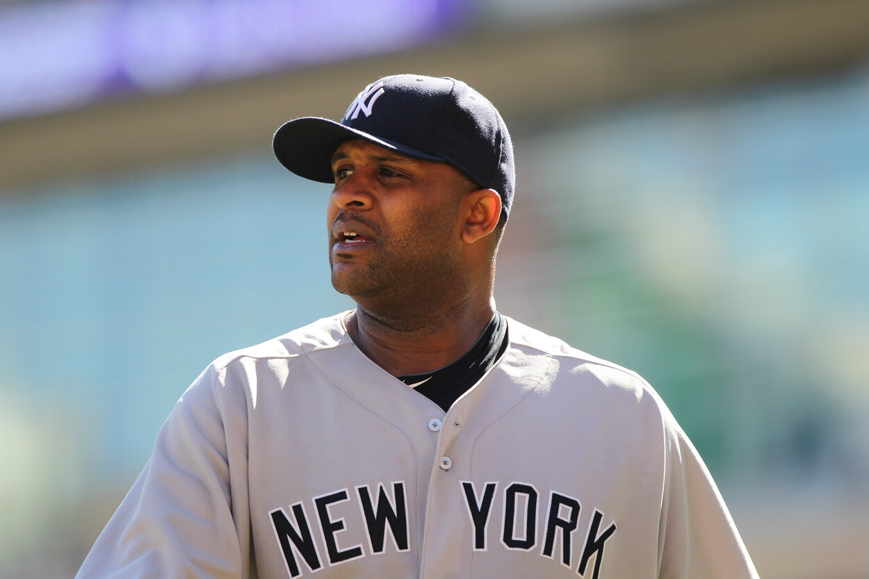 Former New York Yankees pitcher CC Sabathia during a 2012 game.