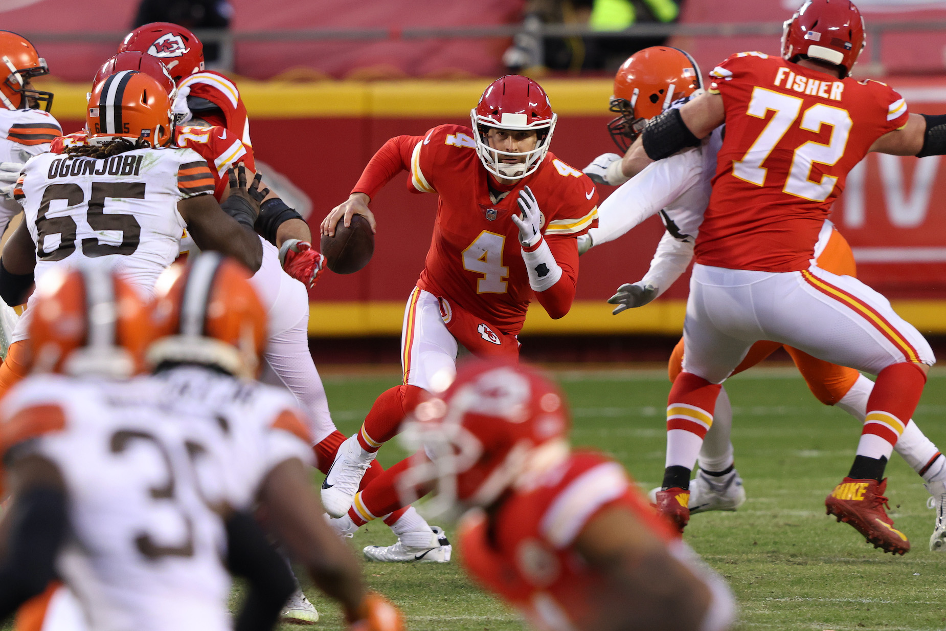 Chad Henne made an impression on Kansas City Chiefs fans, not to mention Patrick Mahomes, on Sunday.