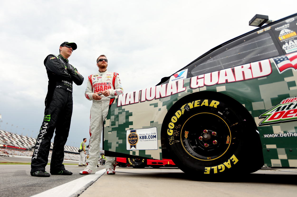 Kyle Busch and Dale Earnhardt Jr. had a heated feud in 2008 and 2009. In fact, Busch even received death threats because of their feud.