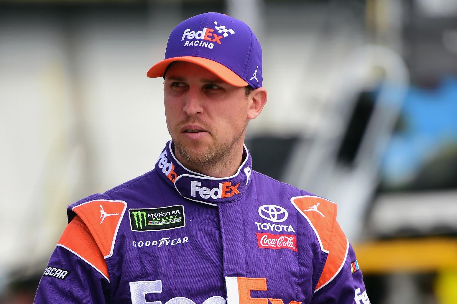 Denny Hamlin reveals kabourophobia winning NASCAR Overton 301