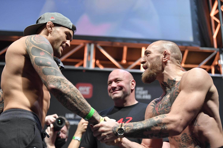 Dustin Poirier Dana White Conor McGregor UFC 257