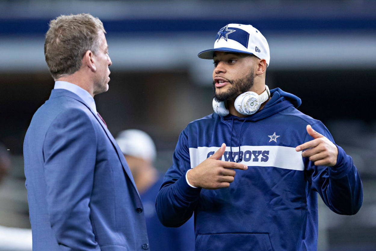 Dak Prescott's future with the Dallas Cowboys is still uncertain, but Troy Aikman doesn't believe the QB is going anywhere.