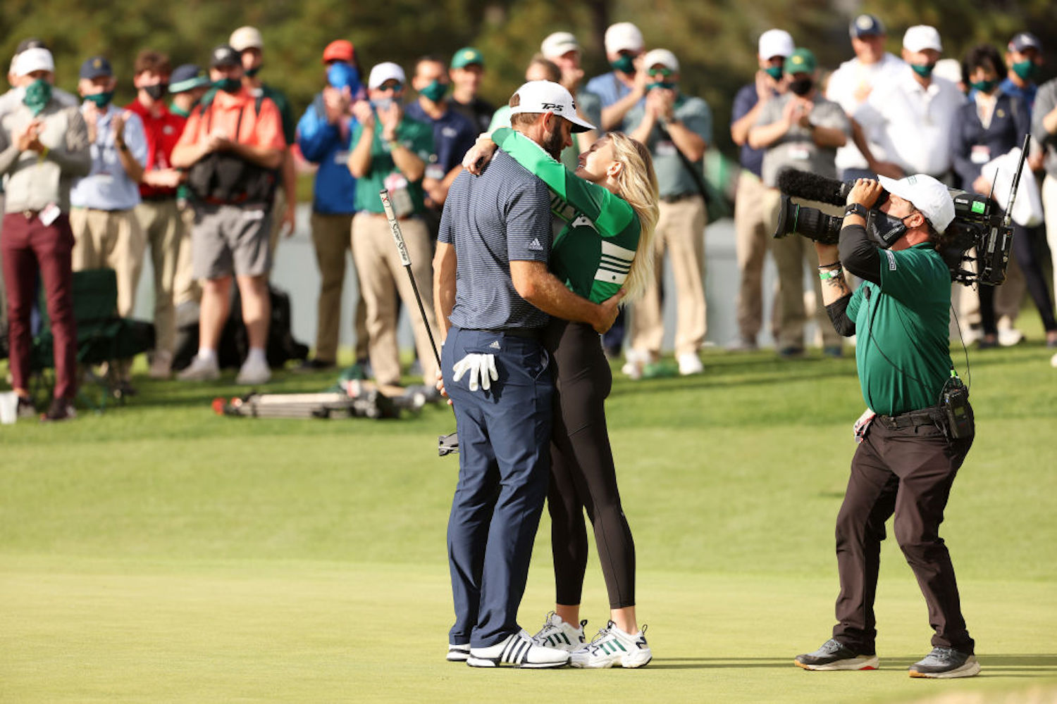 Dustin Johnson is routinely seen embracing The Great One's daughter, Paulina Gretzky, after his wins, but are the two married?