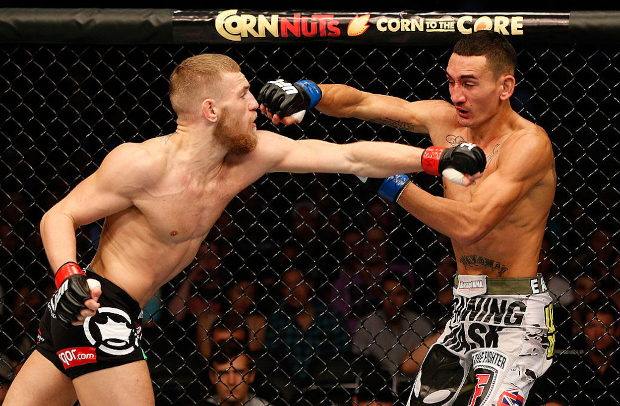 Conor McGregor defeated Max Holloway by unanimous decision in 2013, and it was later revealed he fought through a torn ACL.