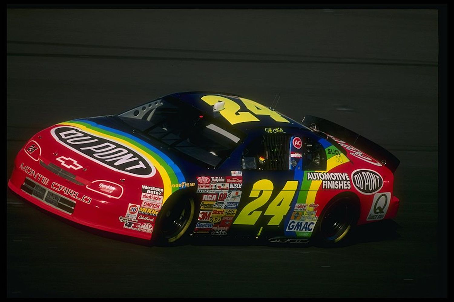 Jeff Gordon won three NASCAR races with his Chevrolet Monte Carlo in the mid-1990s, but his old race car was just put up for auction.