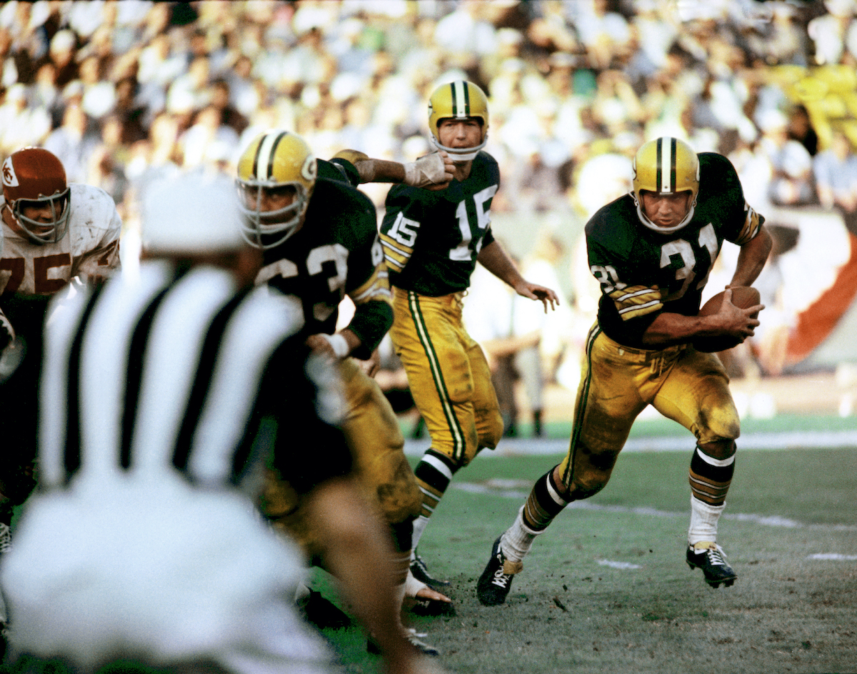 Packers quarterback Bart Starr in Super Bowl I