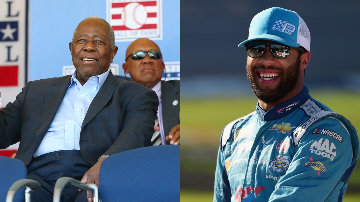 Hank Aaron is a baseball and civil rights icon. Before his death, he had a special moment with NASCAR driver Bubba Wallace.