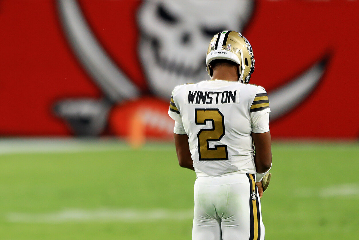 Tampa Bay Buccaneers fans showed they're stuck in the past by sending former quarterback Jameis Winston an ugly message ahead of Super Bowl 55.