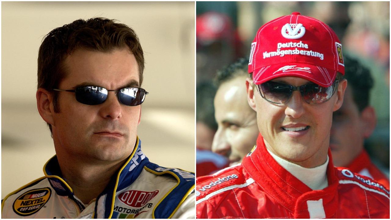 Jeff Gordon Michael Schumacher