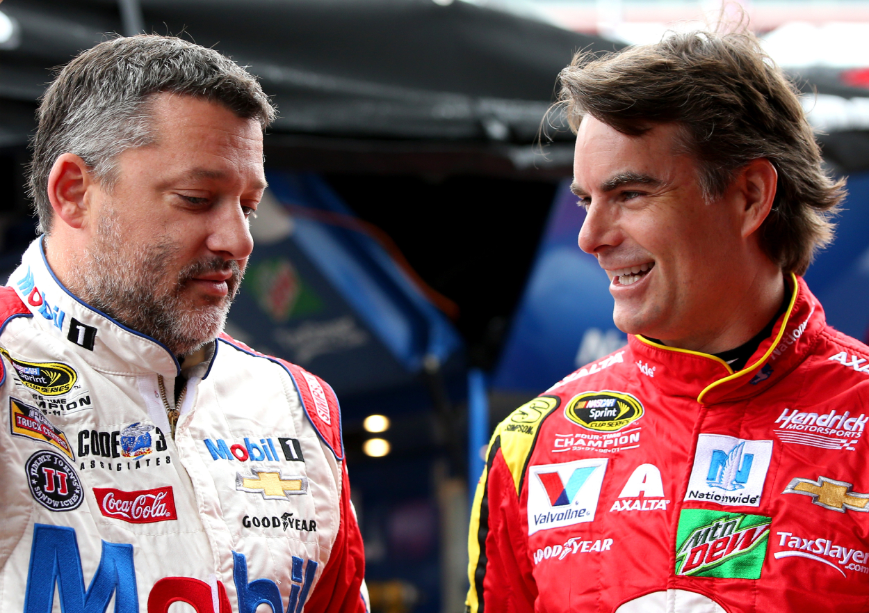 Jeff Gordon and Tony Stewart have mutual admiration for each other. Things have not always been great between the two NASCAR legends, though.