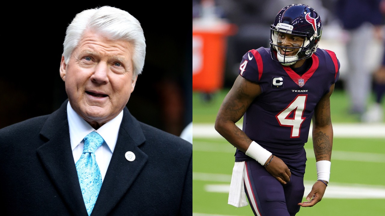 The Texans have a Deshaun Watson problem. However, Jimmy Johnson reveals how 'Michelob Ultra' and 'tropical fish' can entice him to stay.