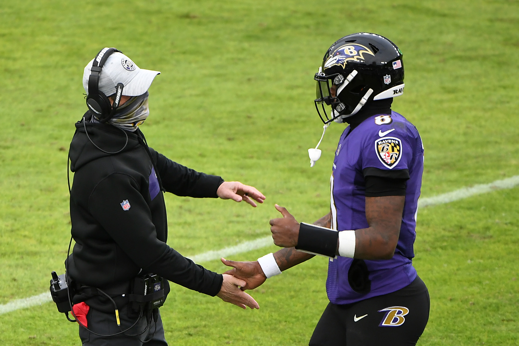 Ravens head coach John Harbaugh doesn't care what critics say about his team's offense despite their flaws in the passing game.