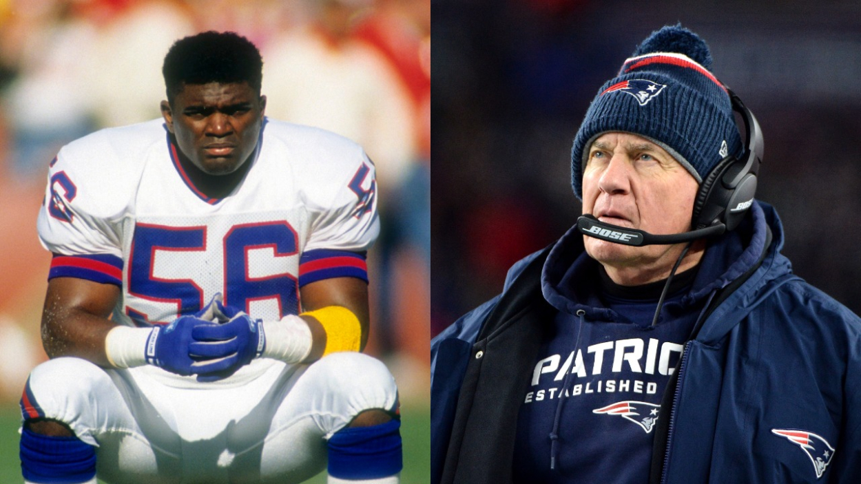 Lawrence Taylor had a ton of success on the Giants. He was, however, very pissed when Bill Belichick became the defensive coordinator.