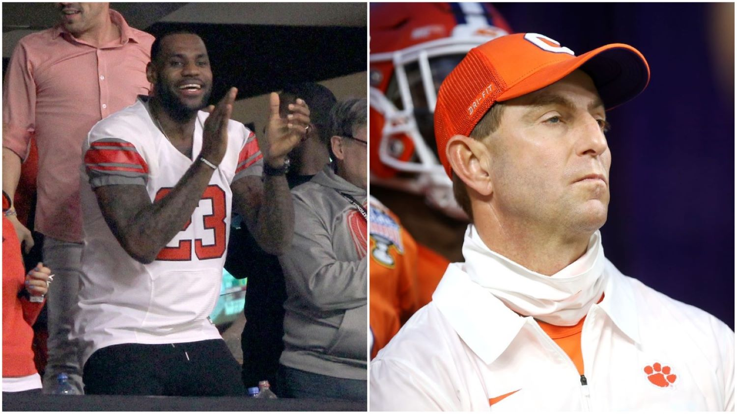 Lebron James took to Twitter to clown Dabo Swinney and celebrate Ohio State's win over Clemson in the Sugar Bowl.