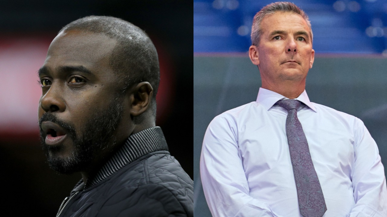 Urban Meyer is the new coach of the Jaguars and will probably have Trevor Lawrence at QB. Marshall Faulk is 'worried' for Lawrence, though.