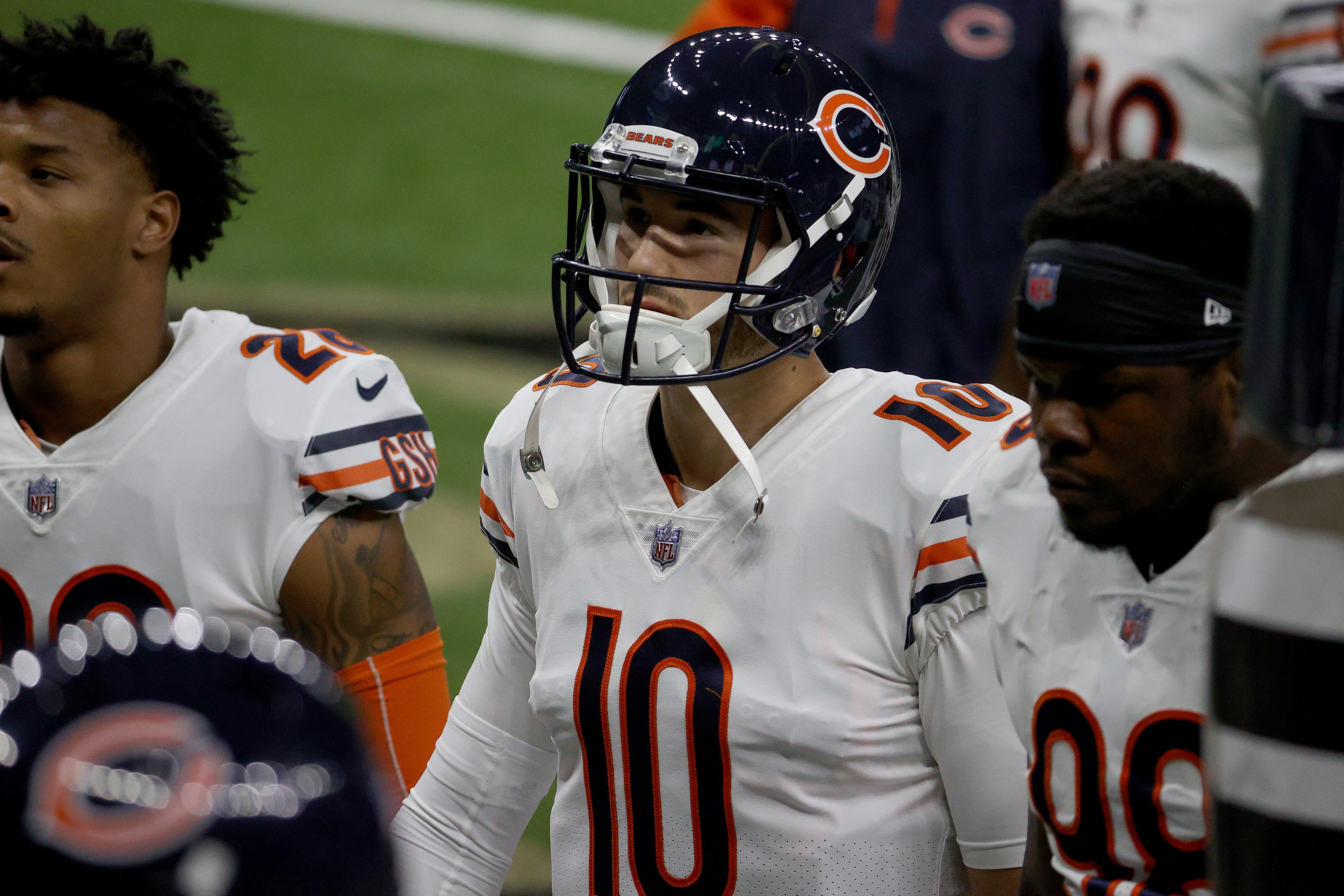Despite losing in the wild-card and a shaky season, Mitchell Trubisky still believes his future is in Chicago.