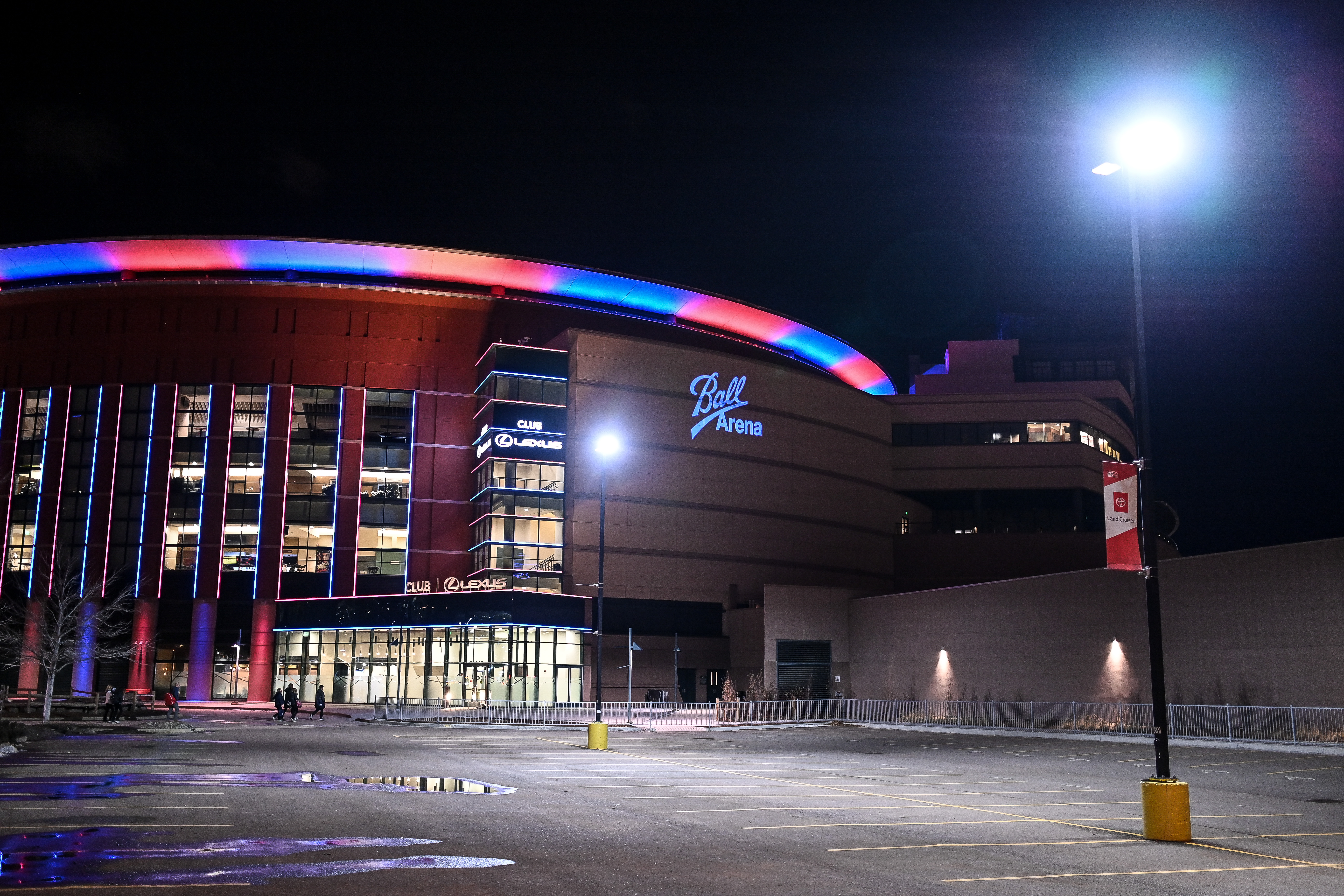 A view of Ball Arena before a game between the St. Louis Blues and the Colorado Avalanche in 2020